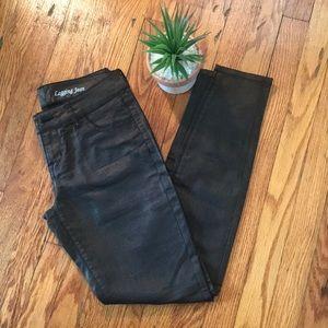 Shimmer legging jeans